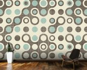 Blue Brown Retro Pattern wallpaper mural kitchen preview