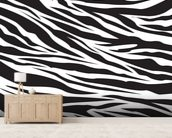 Zebra Pattern wall mural living room preview