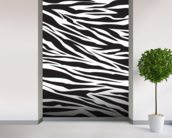Zebra Pattern wall mural in-room view