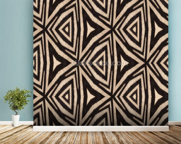 Abstract Zebra Stripes. wall mural room setting