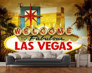 Las Vegas Welcome Wall Mural Wall Murals Wallpaper
