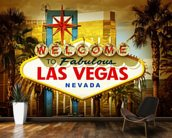 Las Vegas Welcome wallpaper mural kitchen preview