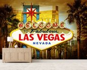 Las Vegas Welcome wallpaper mural living room preview