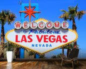 Welcome to Las Vegas mural wallpaper kitchen preview