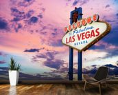 Welcome to Las Vegas Sign at Sunset wall mural kitchen preview