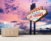 Welcome to Las Vegas Sign at Sunset wall mural living room preview
