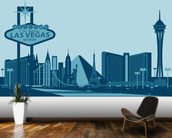 Las Vegas Skyline Abstract wallpaper mural kitchen preview