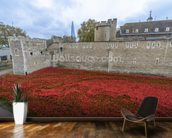 Tower of London Poppies mural wallpaper kitchen preview