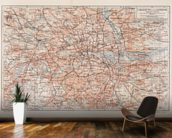 Vintage Map of London wallpaper mural kitchen preview
