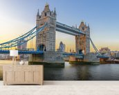 London Tower Bridge at Sunset mural wallpaper living room preview