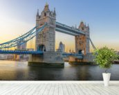London Tower Bridge at Sunset mural wallpaper in-room view