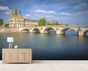Pont Royal and Louvre wall mural living room preview