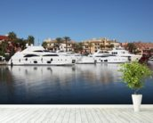 Sotogrande Marina Luxury Yachts wallpaper mural in-room view