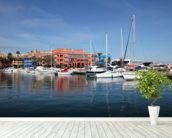 Sotogrande Marina wall mural in-room view