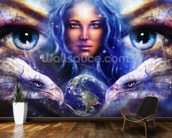 Womans Eyes wall mural kitchen preview