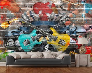 Graffiti   Guitar Wall Mural Part 40