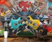 Graffiti - Guitar wallpaper mural kitchen preview