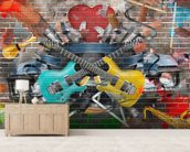 Graffiti - Guitar wallpaper mural living room preview