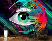 Bright Eye mural wallpaper kitchen preview