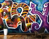 Graffiti - Scibble mural wallpaper kitchen preview