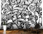 Abstract Doodles wall mural kitchen preview