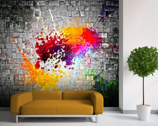 Ink Splatter Wall Mural Wallpaper Wall Murals