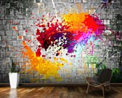Ink Splatter wallpaper mural kitchen preview