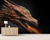 Dragon wall mural living room preview