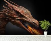 Dragon wall mural in-room view