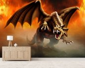 Dragon Attack wall mural living room preview