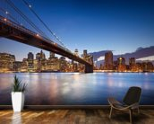 New York Brooklyn Bridge wallpaper mural kitchen preview