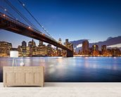 New York Brooklyn Bridge wallpaper mural living room preview