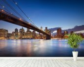New York Brooklyn Bridge wallpaper mural in-room view