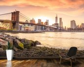 Brooklyn Bridge at Sunset mural wallpaper kitchen preview