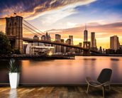 Brooklyn Bridge at Dusk wall mural kitchen preview