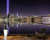 New York - Tribute Lights Brooklyn Bridge wallpaper mural kitchen preview