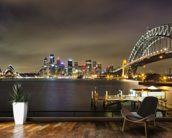 Sydney Harbour Bridge wallpaper mural kitchen preview
