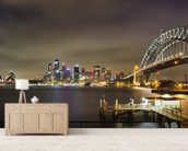 Sydney Harbour Bridge wallpaper mural living room preview