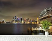 Sydney Harbour Bridge wallpaper mural in-room view