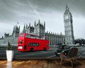 London Bus Colour Wash wall mural kitchen preview