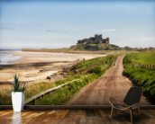 Bamburgh Castle wall mural kitchen preview