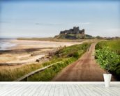 Bamburgh Castle wall mural in-room view