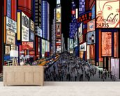 New York - Night View of Times Square wallpaper mural living room preview