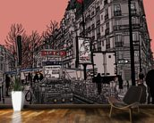 Paris Metro Station Retro wallpaper mural kitchen preview