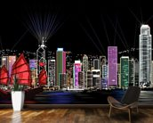 Hong Kong by Night Retro wallpaper mural kitchen preview