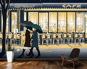 Strolling in the Rain wallpaper mural kitchen preview