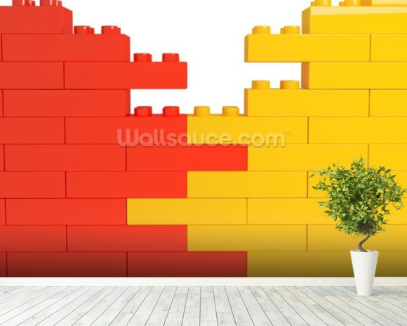 Lego Wall Effect wall mural room setting