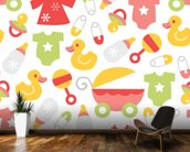 Nursery - Baby Girl mural wallpaper kitchen preview