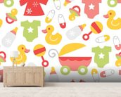 Nursery - Baby Girl mural wallpaper living room preview