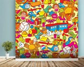 Toys wall mural in-room view